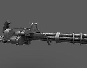 3D model Minigun 02