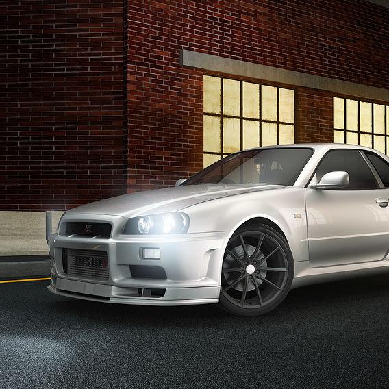 Nissan Skyline Gtr R34 Night Street