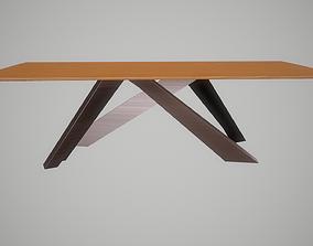 3D model Big table aluminium legs version with american 2