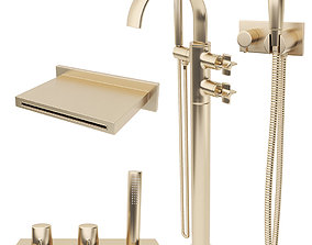 3D model Faucets Armani Roca Set 3