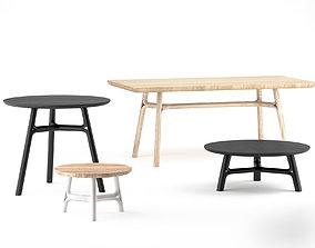3D Dessein Flow dining table and coffee tables