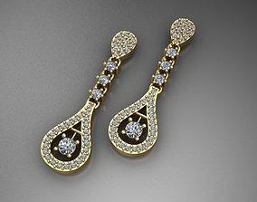fashion Jewelry Earrings 3D print model