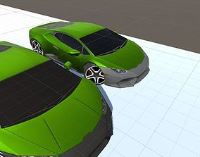 3D asset Mobile ready sports car