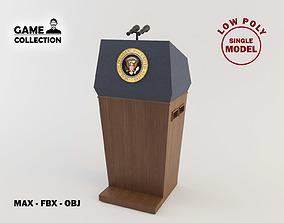 Presidential Podium 3D model