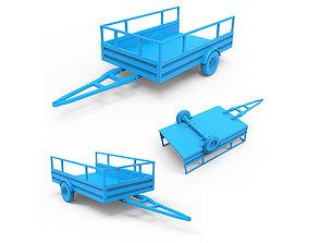 vehicle 3D print model Trailer
