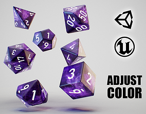 Role Playing Dice - RPG Dice Set - PBR VR / AR ready 4