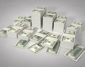 Dollars Stack 3D model