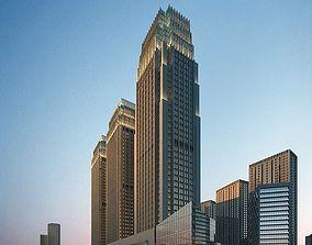 City skyscrapers 3D model