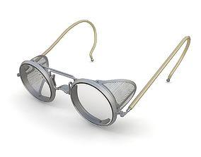 Retro safety glasses 3D