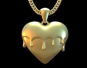 Melted Heart 3D print model