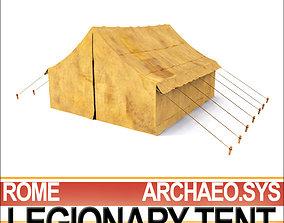 3D model Leather Tent Ancient Rome Legionary tent