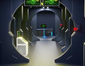 3D Space ship Interior greebles