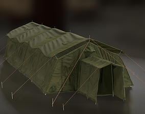 3D model realtime Military tent