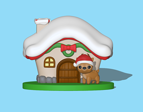 3D printable model A Christmas deer house to decorate your