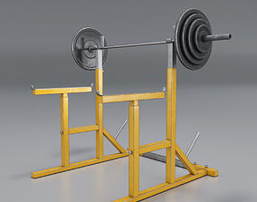 Barbell Stand 3D