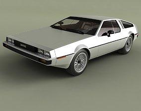 3D model DeLorean DMC 12 Prototype