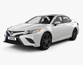 2019 3D model Toyota Camry SE 2018