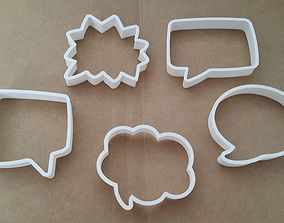 3D print model 5pc Call out bubble set cookie cutter