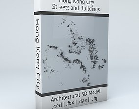 topology 3D Hong Kong City Streets and Buildings