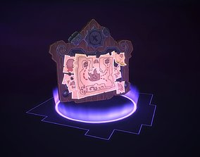3D asset Stylized Treasure Map PBR