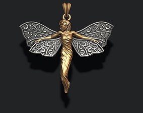 Butterfly girl pendant 3D print model