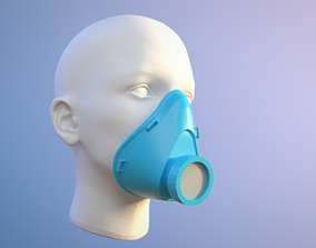 Face Mask for covid-19 virus protection 3D printable model