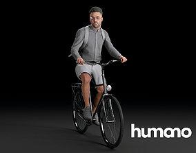 3D Humano Biking Man 0719