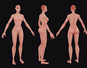 Hand Painted Female Base Mesh 3D asset