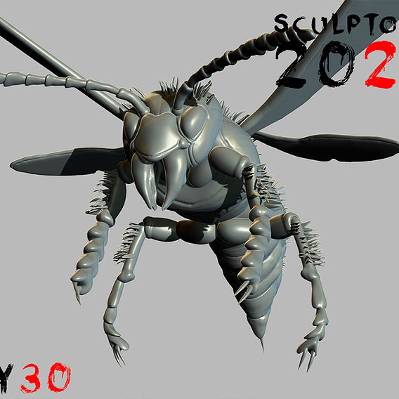 Sculptober Day 30 Sting