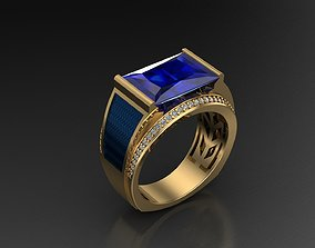 Ring For Man 3D Print Model silver