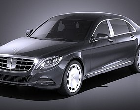 Mercedes-Benz S-Class Maybach 2016 VRAY 3D