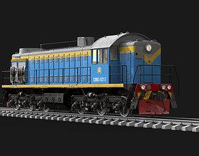 Soviet diesel locomotive TEM-2 3D model