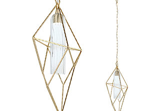 Suspended lamp LED NAOMI 4750-1 gold-19171 3D