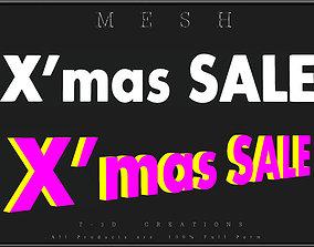 XMAS SALE - A 3D model