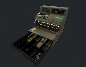 Cash Register pbr 3D model