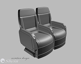 airplane seat of VIP class 3D