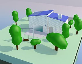 3D asset exterior Cartoon House