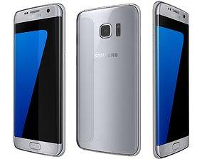 Samsung Galaxy S7 Edge Silver 3D