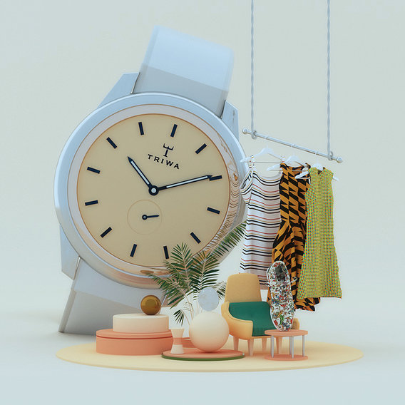 Product showcase concept - Abstract watch modeling