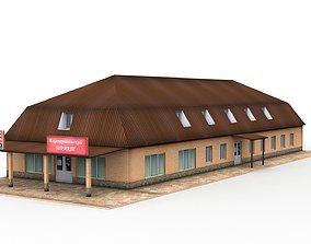 3D asset Roadside motel