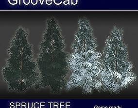 3D model Spruce Trees Low Poly