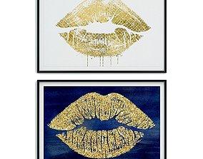 3D asset Painting frame Canvas art 025