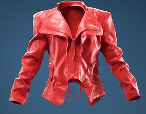 Flaps Leather Jacket Closed 3D