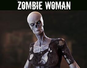 3D asset Zombie Woman