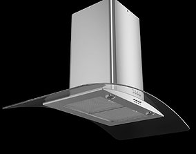 Curved Glass Chimney Hood 3D