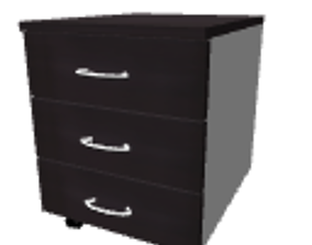3D Drawer unit on casters