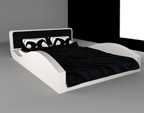 Bedroom Bed 3D model game-ready