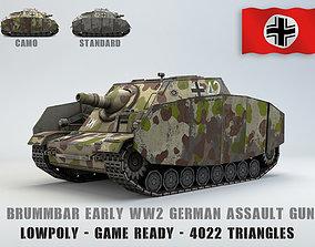 Low poly SdKfz 166 Sturmpanzer Brummbar 3D asset