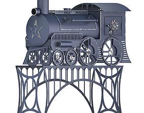 Stove train retro 3D