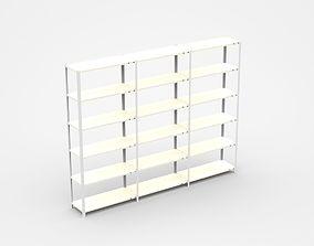 Semi-level White Industrial Shelf 3D model
